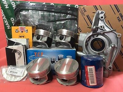 YCP P29 76mm Teflon Coated Pistons High Comp Complete kit Civic 96-00 D16Z6