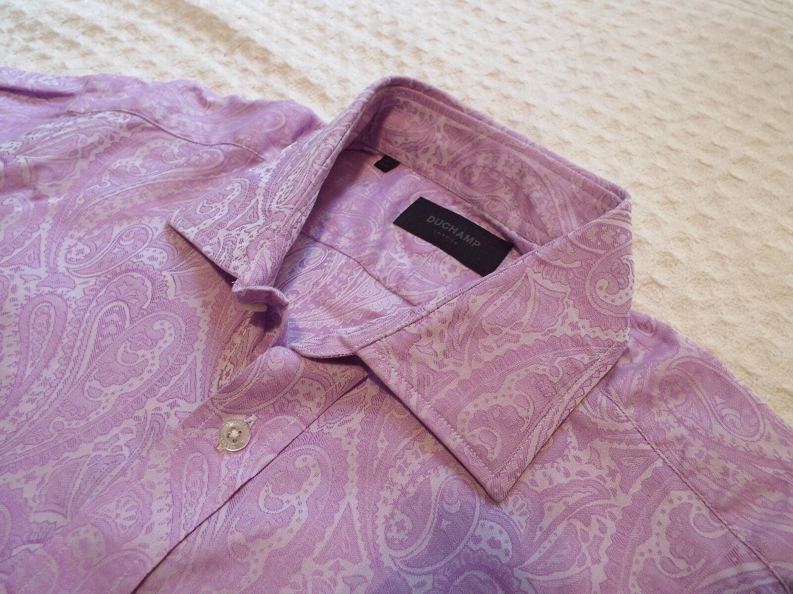 DUCHAMP Mens Shirt  Size 16  (CHEST 42 )  RRP +FLORAL PAISLEY JACQUARD