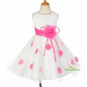 Petals-Rhinestones-Dress-Up-Birthday-Wedding-Flowergirl-Party-Size-3-10-FG294