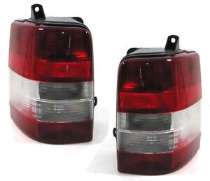 Image Is Loading Red White Tail Lights Rear For Jeep