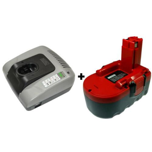 Batterie 18 V 2000 mAh Ni-Cd pour Bosch 35618 345401 3918 B psb18ve2 Chargeur Set