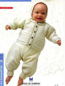 a8340e07d0c3 DALE OF NORWAY Baby Ensemble 1024 Fanasaeter KNITTING Pattern ...