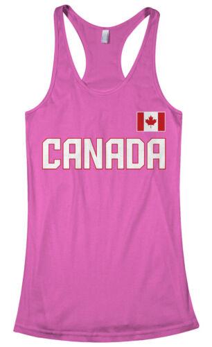 Threadrock Women/'s Canada National Team Racerback Tank Top canadian flag