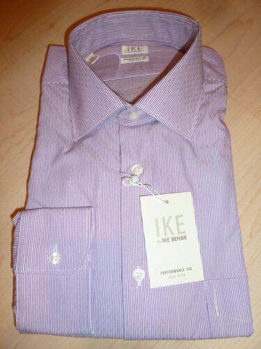 NEW $190 IKE BEHAR MENS SHIRT Sz 16.5 32 Non-Iron Performance Cotton white BC