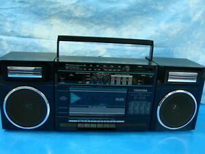 1980s Panasonic Boom Box Radio With moreover 252942208191 besides Only In Japan Aiwas Answering Machine Boombox besides L adario Rettangolare together with 380852638913. on toshiba boombox radio