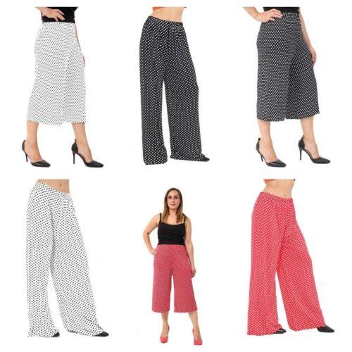 Le Donne Donna Gamba Larga plazo 3/4 Pantaloni corti casual Loose Pantaloni Taglie Forti