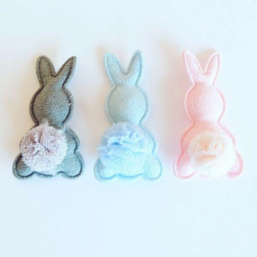 Fluffy rabbit bunny embellishments charms