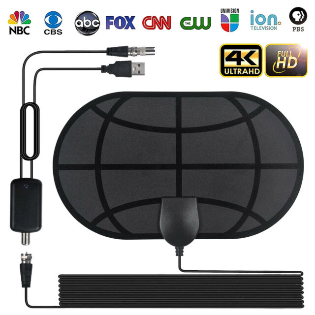 980 Mile Indoor Digital TV Antenna Aerial Signal Amplified 4K HDTV HD Freeview
