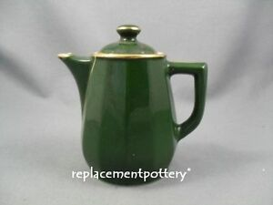 Apilco-Bistroware-Green-amp-Gold-Coffee-Pot-1-25-Pint