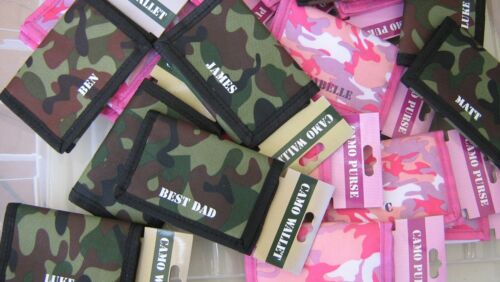 Personalised Camo Design Kids Wallets