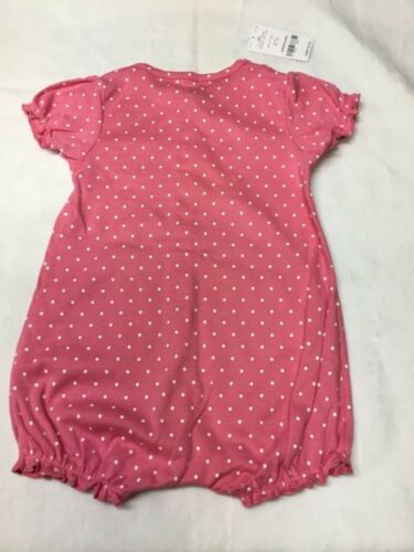 Carter's  one piece 24 month bodysuit.Pink with white polka dots New with tags