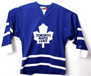 super popular db260 c3a7d Details about Pro Player Mens Medium Hockey Jersey Toronto Maple Leafs  Stitched Blue NHL Vtg