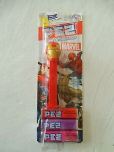NEW-PEZ-DISPENSER-MARVEL-034-IRON-MAN-034-WITH-CANDY-FREE-SHIPPING