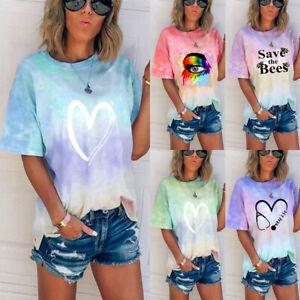 Summer-Womens-Loose-T-Shirt-Holiday-Tee-Blouse-Sweatshirt-Ladies-Pullover-Tops