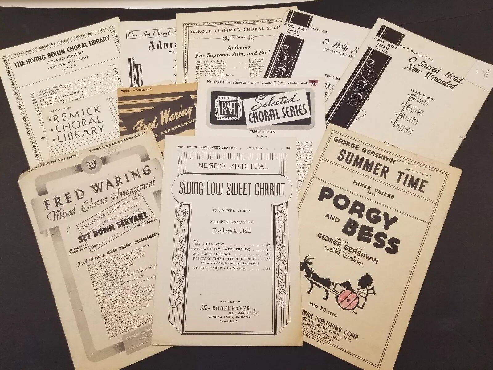 Vintage Partituras Surtidos incluso negro espiritual espiritual espiritual Lote de 11  online al mejor precio