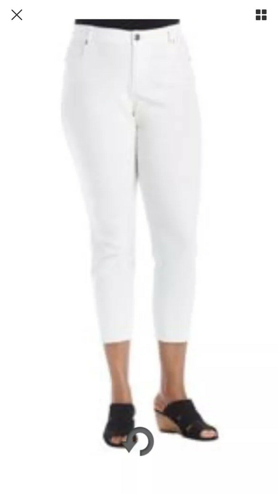 Ruff Hewn Skinny Ankle White Plus Size 24W Jeans . New with tags. Retail  79.00