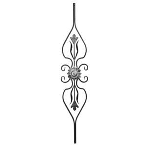 Rosette Stahl 800x180 Metall 058 Zaune für Zaun Tor Tür aus Eisen Zierteil