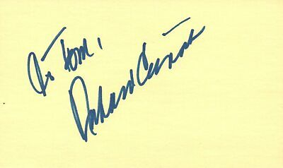 Movies Aggressive Richard Crenna Actor Director 1979 Tv Movie Autographed Signed Index Card Cards & Papers