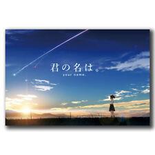 Hot Japan Anime Movie Kimi no na wa Your Name Silk 24x36Inch Custom Poster P-320