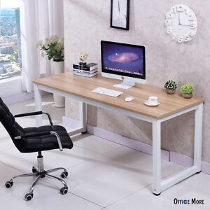 Image Is Loading Computer Desk PC Laptop Table Wood Workstation Study