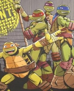 Image Is Loading Teenage Mutant Ninja Turtles Nickelodeon Fabric Shower Curtain