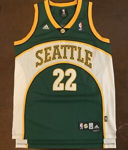 buy popular d882a aed3f Details about Rare Vintage Adidas NBA Seattle Supersonics Jeff Green  Basketball Jersey