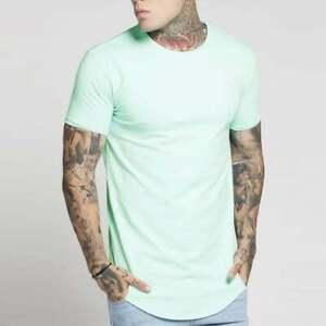 Nouveau-Homme-Designer-Sik-Silk-siksilk-King-a-Manches-Courtes-T-SHIRT-GYM-Pastel-Vert