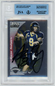 2005-PACKERS-Aaron-Rodgers-signed-ROOKIE-card-Topps-DPP-Chrome-152-JSA-AUTO-RC