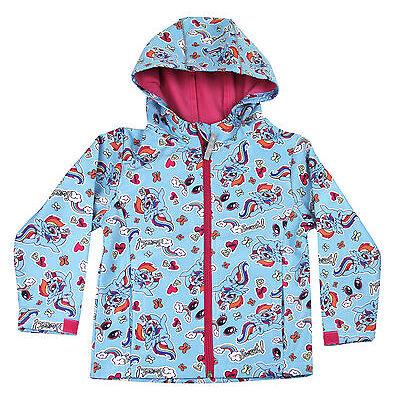 My Little Pony Kids Soft Shell Jacket Lightweight Showerproof Coat Rainbow Chase