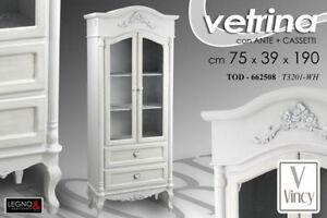 Credenza Con Vetrinetta Bianca : Credenza vetrina h190*75*39 cm vetrinetta bianca cuore legno shabby
