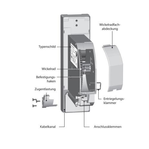 Rademacher RolloTron Basis 1100-UW elektrischer Gurtwickler Rollladen Motor