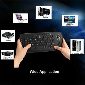 2.4G Wireless Tastiera Con Trackball Mouse Per Notebook Computer TV BOX ANDROID