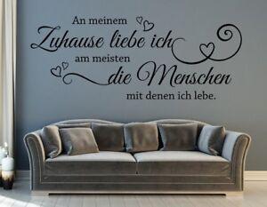 WandTattoo Wohnzimmer Flur Spruch an meinem Zuhause liebe ich die ...