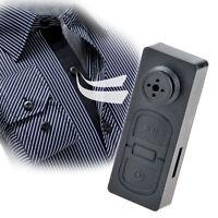 Mini Shirt Button Pinhole Hidden Spy Covert Dvr Camera 30fps 720x480