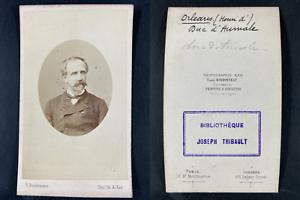 Bondonneau, Paris, Henri Orléans, duc Aumale Vintage cdv albumen print.Henri d