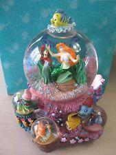 Disney Little Mermaid Ariel Snowglobe Under the Sea Original Box 3 Mini Globes