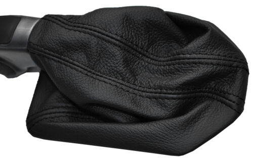 BLACK STITCHING MANUAL LEATHER GEAR GAITER FITS LANDROVER DISCOVERY 3 04-09