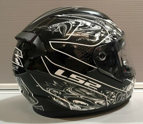 LS2 RAPID Full Face Motorbike Motorcycle Helmet Black//White Crypt Skull