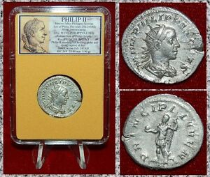 ANCIENT-COIN-Philip-II-Holding-Spear-and-Globe-On-Reverse-Silver-Antoninianus