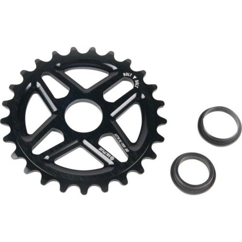Salt Plus Center Bolt Drive Sprocket 25t Black Includes Adaptors for 19mm and