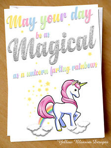 Image Is Loading Cute Birthday Card Funny Unicorn Friend Sister Girlfriend