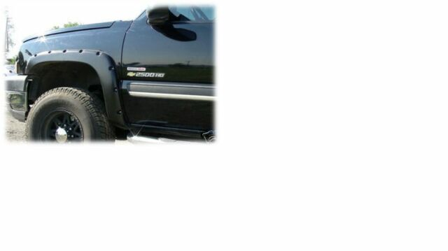 Pocket/Bolt Style Fender Flares - Smooth Black / Paintable - Full Set - PB4103