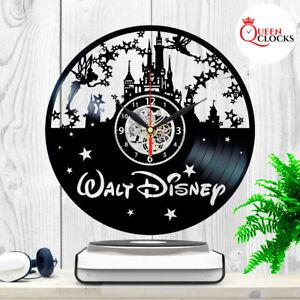 Disney-World-Theme-Castle-Logo-Vinyl-Record-Wall-Clock-Princess-Gifts-Art-Decor