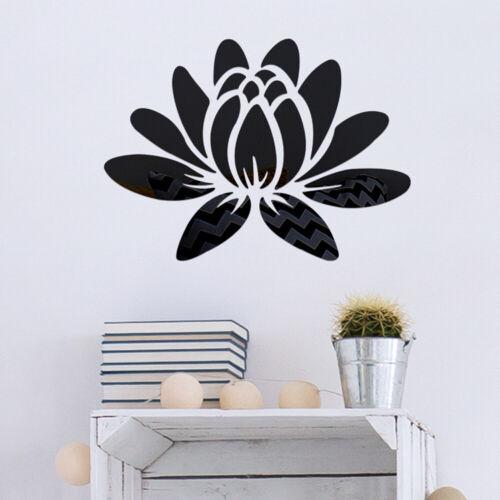 3D-Mirror Flower Removable Wall Sticker Art Acrylic Mural Decal Wall Home//Decor