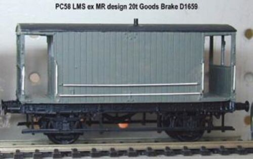 PARKSIDE DUNDAS PC58 OO SCALE LMS ex MR Design 20 Ton Goods Brake Van