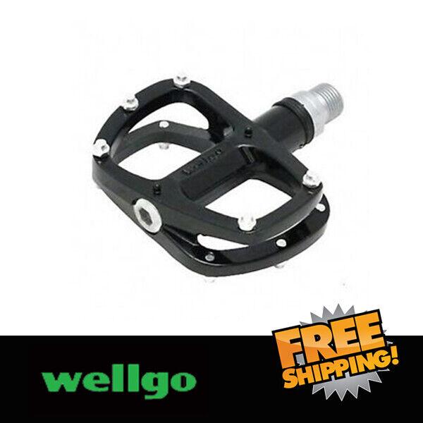 "Wellgo R146R 9//16/"" Alu Cliples Road Bike Bicycle PedalSealed Bearing Pedal Black"