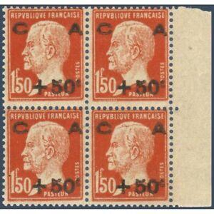 N-255-CAISSE-D-039-AMORTISSEMENT-BLOC-4-TIMBRES-NEUFS-1929