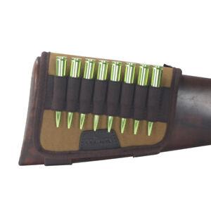 Tourbon-Rifle-Cartridges-Carrier-Gun-Bullets-Holder-on-Buttstock-Canvas-Hunting