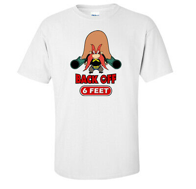 Back Off Six Feet Social Distancing Virus Prevention Containment T-Shirt