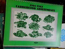 1981 1982 FORD MUSTANG THUNDERBIRD ESCORT LTD CARBURETOR ADJUSTMENTS MANUAL